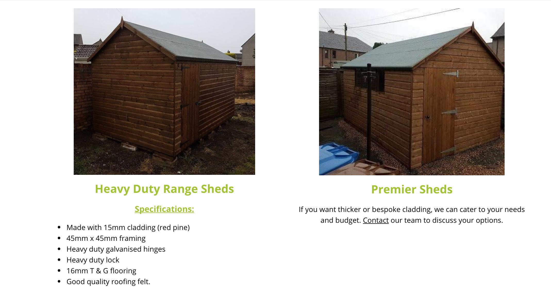 Garden sheds Fife - Central Fife Sheds
