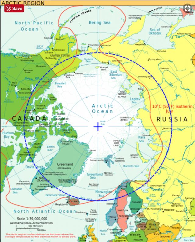 map image of arctic circle