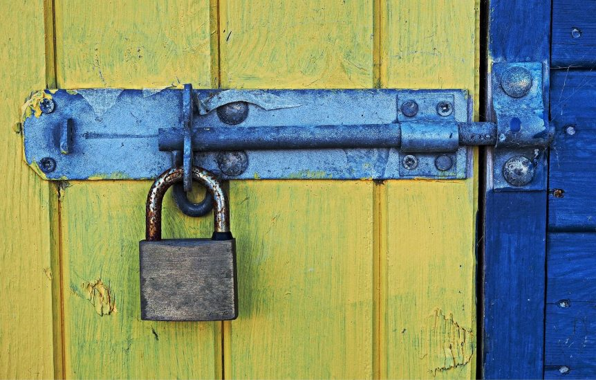bolt with padlock