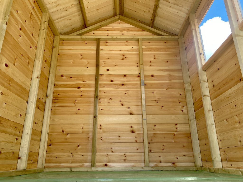 inside shed timber thickness